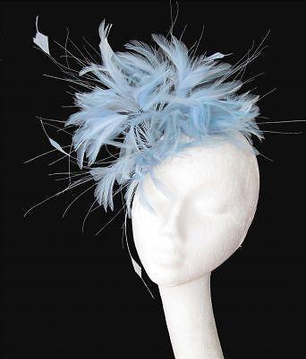 Pale Blue Fascinator Hat for weddings/ascot/proms Headband