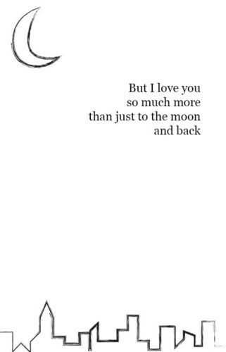 Mother love images with quotes for mothers day 2017.This mothers day picture says...But I love you so much more than just to the moon and back.