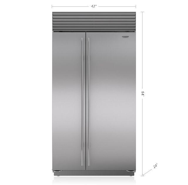 "Sub-Zero 42"" Built-In Side-by-Side Refrigerator/Freezer with Internal Dispenser BI-42SID/S"
