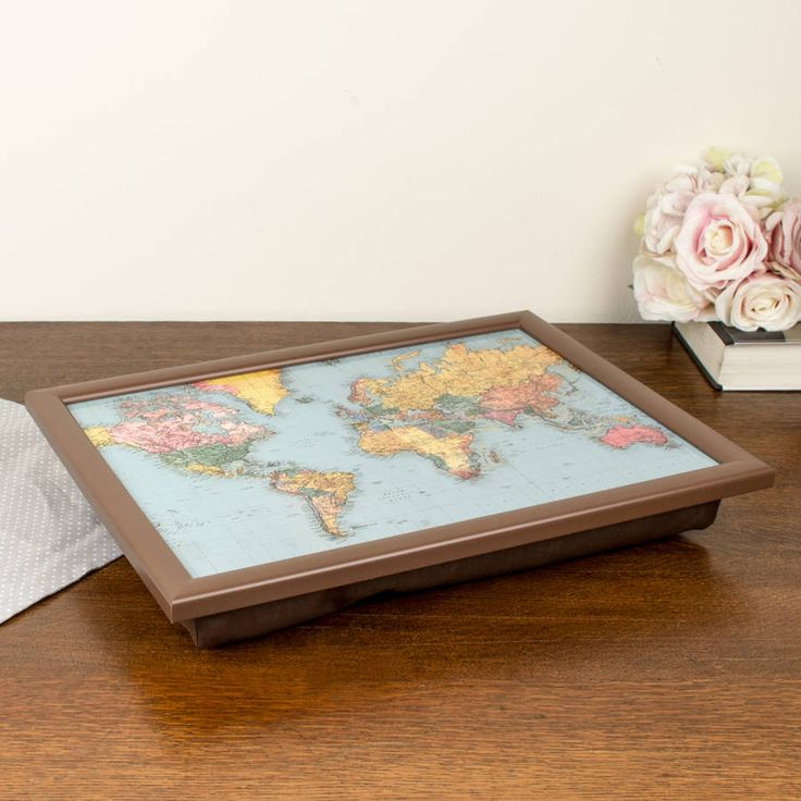 Map Of The World Bean Bag Lap Tray