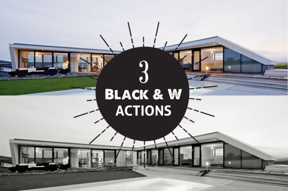 Check out 3 Black & White Photoshop Actions by WH Designs on Creative Market