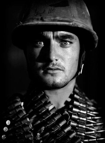 """Kevin Frayer, July 11, 2010    """"...the face of this one soldier, Ghulam Hidar…"""