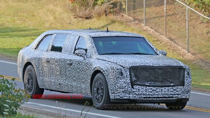 The Beast, the latest version of the presidential limousine, has been photographed on public roads around the GM Proving Grounds near Milford, Mich.