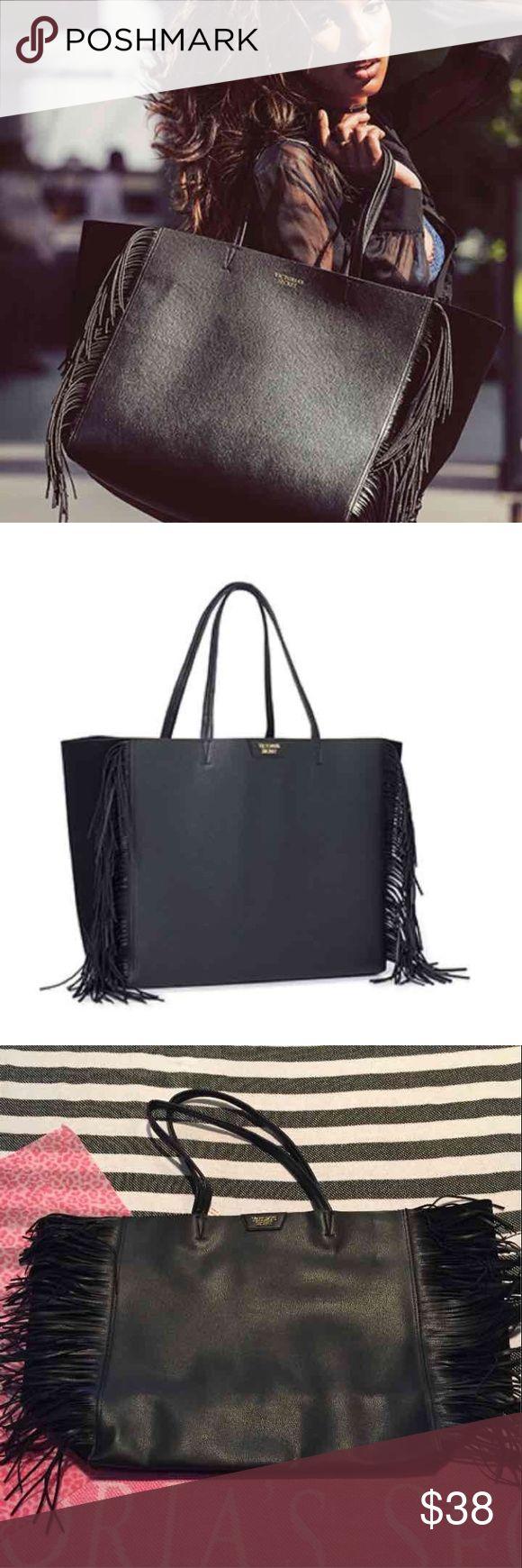 Victoria's Secret large fringe tote bag Nwt Victoria's Secret Bags Shoulder Bags