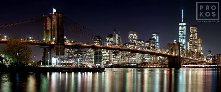 BROOKLYN BRIDGE NIGHT PANORAMA