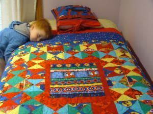 Find lots of inspiration in these baby quilts for boys!: Luke's Spiderman Quilt