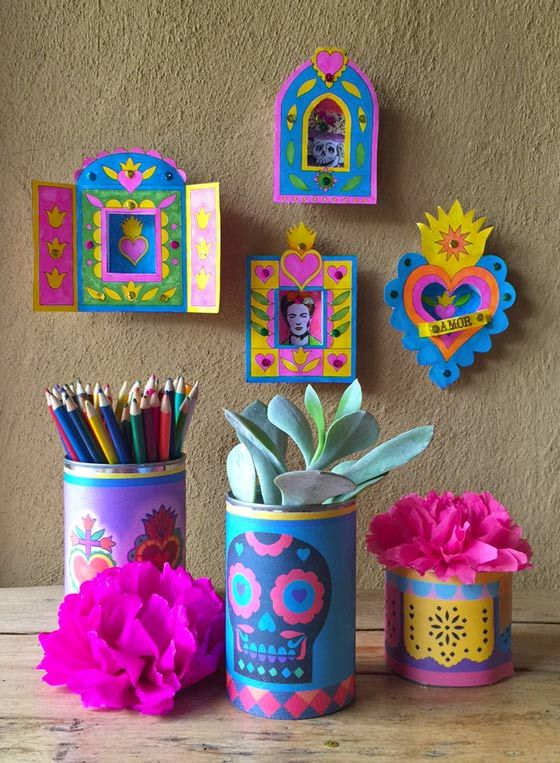642 best images about dia de los muertos on pinterest for Day of the dead arts and crafts