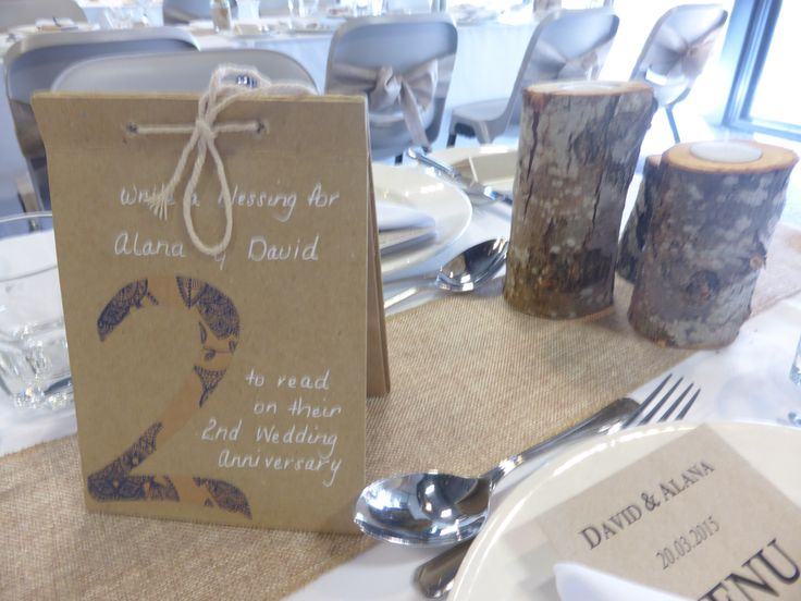 We love these table numbers that double as a wedding  anniversary word gift from guests.