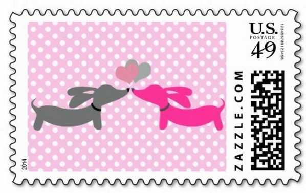 Puppy love, dachshund love, wiener love - whatever you call it, it's true love! Pair this cutie with our wiener dog cards and envelope seals for the full wiener effect. - Sold in sets of 10 - 1st clas