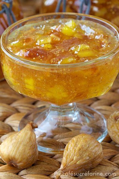 Fig & Fresh Pineapple Freezer Jam #recipe