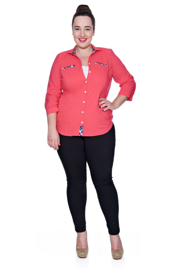 Czarne spodnie zwężana nogawka - Modne Duże Rozmiary