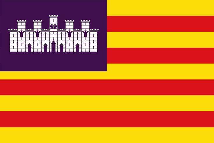 Bandera de la Comunidad Autónoma de las Islas Baleares.
