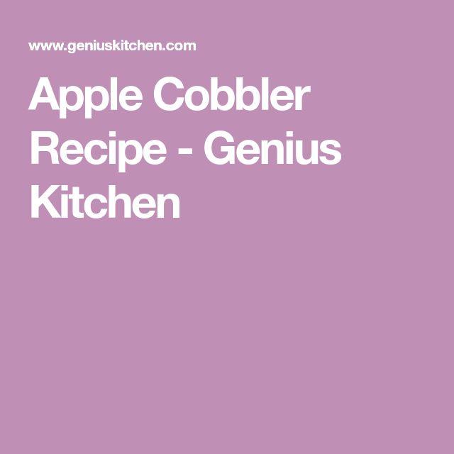 Apple Cobbler Recipe - Genius Kitchen