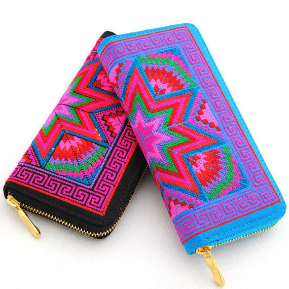 Crossstitch embroidered purse / wallet / Women's by ohyescostume, $13.99