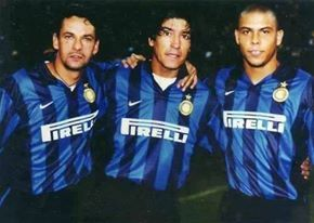 Roberto Baggio, Ivan Zamorano and Ronaldo at Inter Milan in the 90's. When Serie A was the best league in the world.