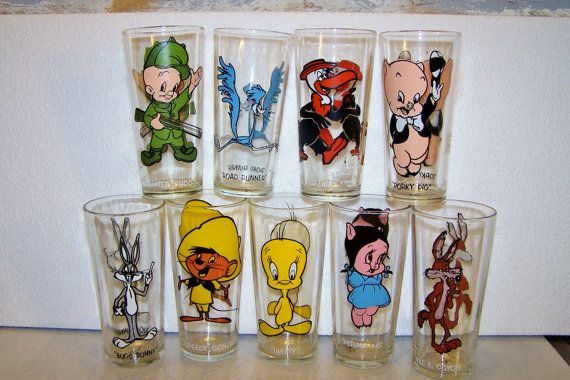 Cartoon Drinking Glasses Vintage Pepsi Collector Series