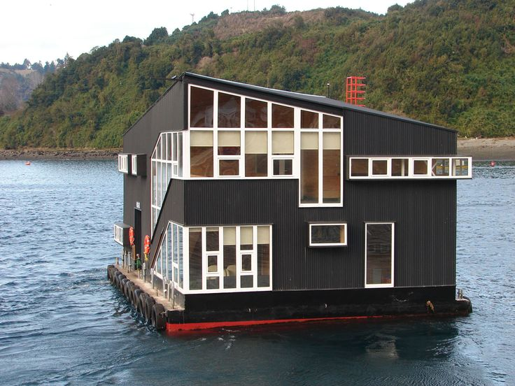 Best Houseboats Images On Pinterest Architecture Floating - Awesome floating house shore vista boat dock by bercy chen studio