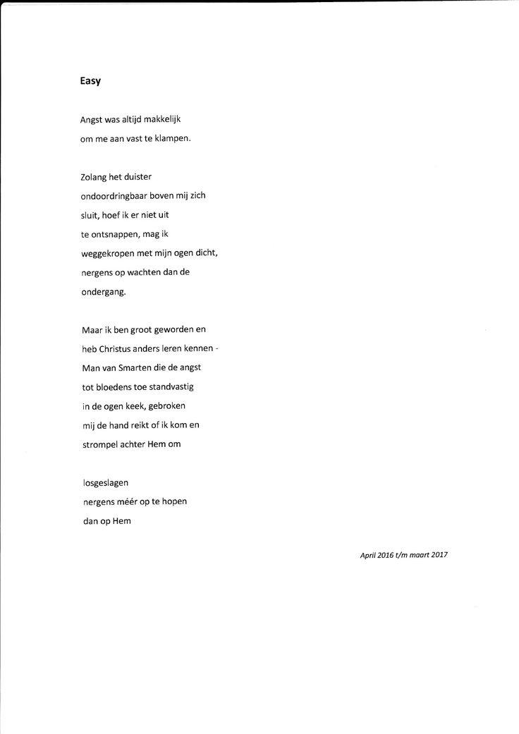 Gedicht over een bepaald soort angst, niet over angst in het algemeen! Zie www.maravaneyck.wordpress.com voor toelichting.