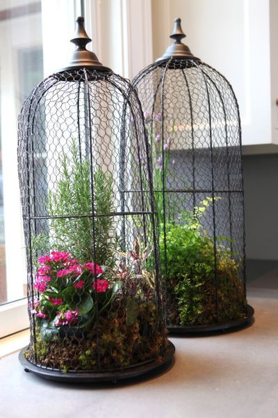 298 best wire cloche 39 s images on pinterest bird cage for Mica decoration cloche