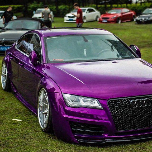 Slammed Audi A7 • Photo via @carvisual  #CarLifestyle
