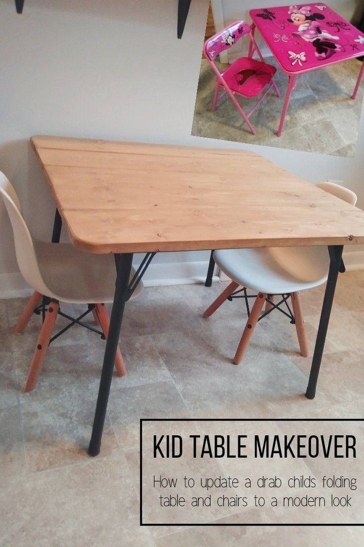 - Update A Kid Folding Table And Chairs To Fit A Modern Farmhouse