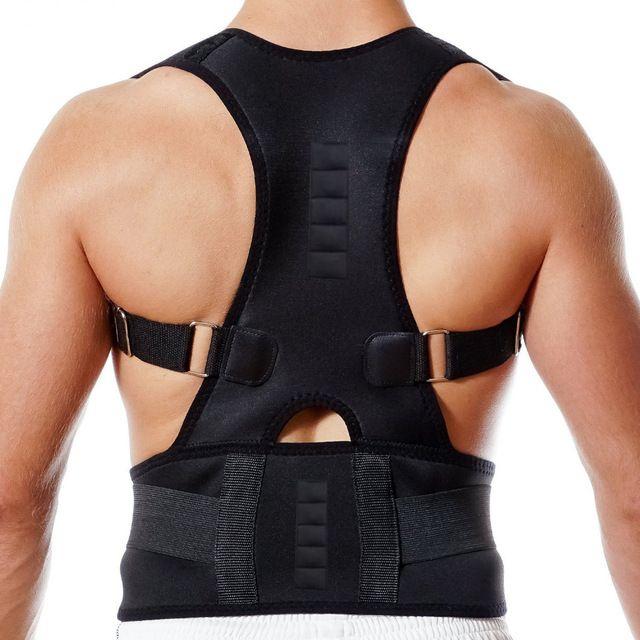 Price-7$     New Magnetic Posture Corrector Neoprene Back Corset Brace Straightener Shoulder Back Belt Spine Support Belt for Men Women