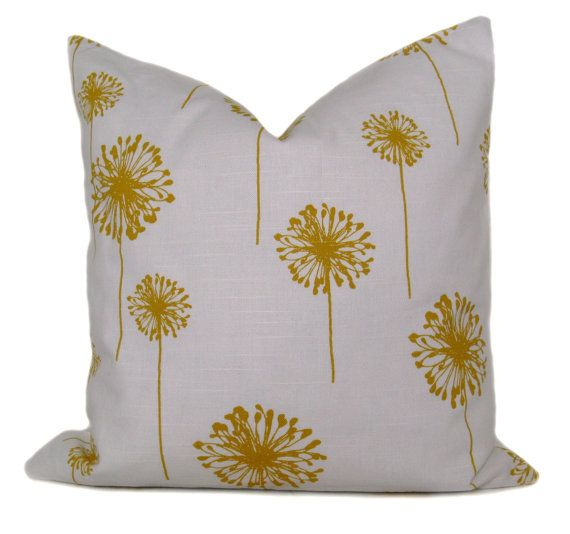 Yellow Pillow  Yellow Pillows  Yellow Pillow cover  by EastAndNest