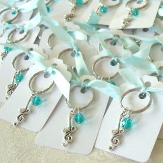 musical theme party  | Music Theme Wedding Shower Favors in Tiffany Blue