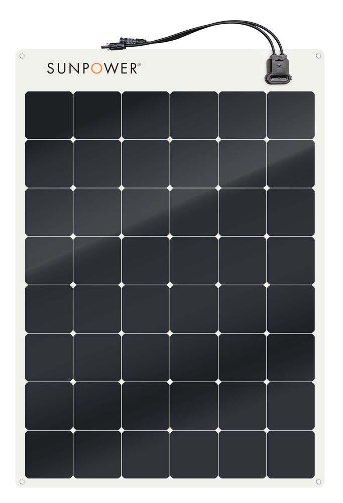 Want The Best Look For The Sunpower Logo The 170w Is Made With Gen Iii 25 Efficiency Maxeon Solar Cells Rated 29 Flexible Solar Panels Solar Sun Power