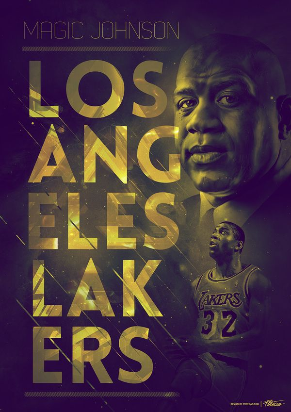 Vintage NBA posters - Collection 1 - by Caroline Blanchet, via Behance