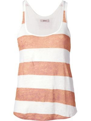 ___humanoid__sok striped tank brick_100% linen_119€