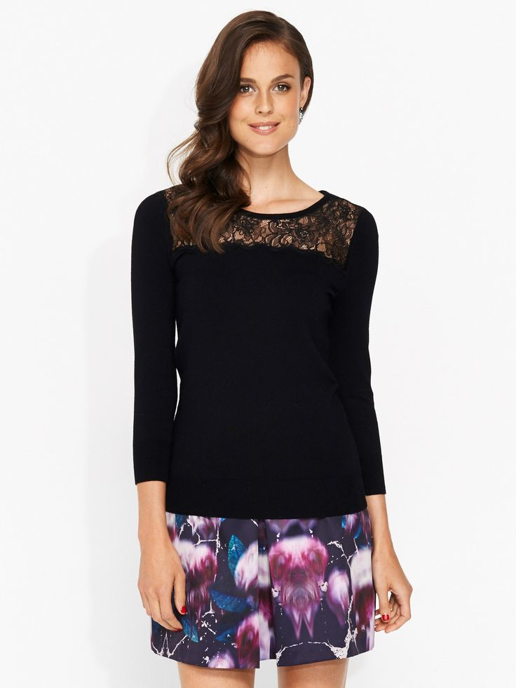 Image for Lace Yoke Knit from Portmans