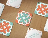Piazza dei Fiori - logo, business card and labels for a florist