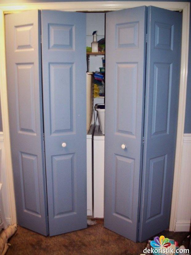 Mavi Katlanır Kapı Modelleri
