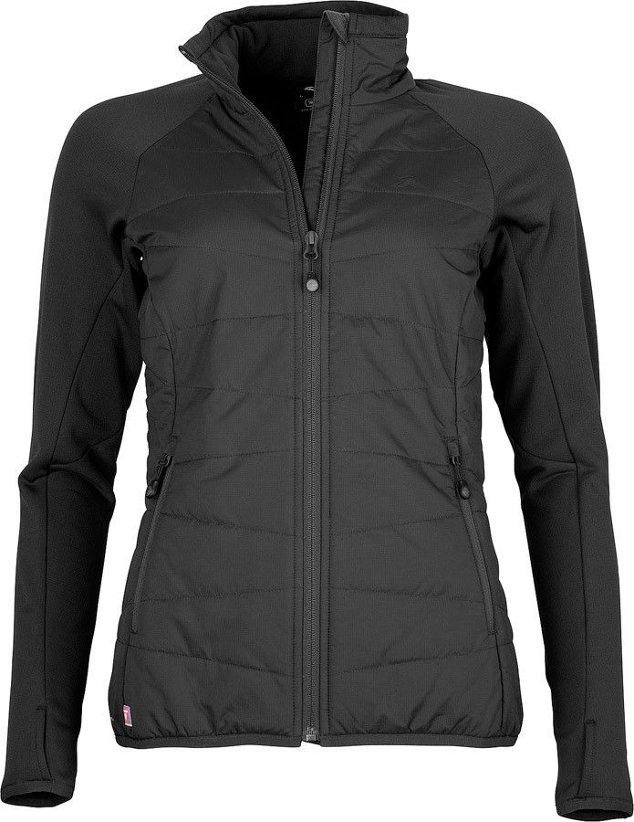 The Active Hybrid Jacket Womens is a high performance fleece alternative that provides lightweight warmth on active adventures. It features a DWR-treated Pertex® Equilibrium face fabric for water-resistance, which also has a smart matte-finish that will take you from a morning on the trails, to an afternoon in town. The front of Active Hybrid Jacket is filled with PrimaLoft® Gold for lightweight warmth, with minimal bulk. On the back, Pontetorto® Grid Fleece provides additional warmth and…