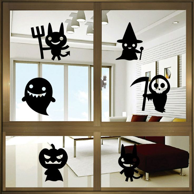 deco fenetre halloween. Black Bedroom Furniture Sets. Home Design Ideas