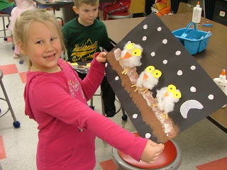 Art with the book: Owl Babies