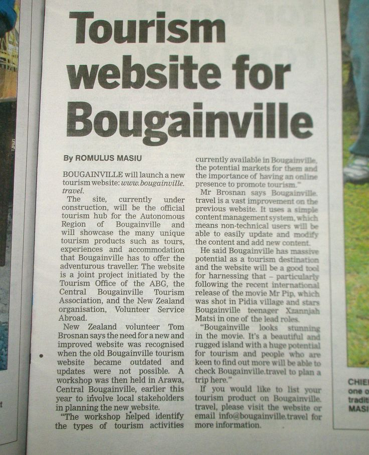 Check out this article about the new Bougainville tourism website. Featuring our own UniVol, Tom Brosnan. Congratulations to him and the team on seeing the fruits of all their hard work!