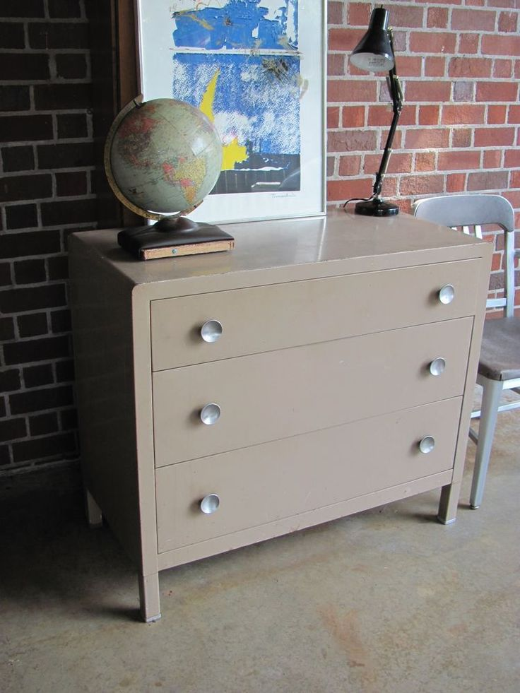 Antique Metal Industrial Painted Chest By Simmons Furniture - 381 Best Industrial Steel Cabinets Images On Pinterest Vintage