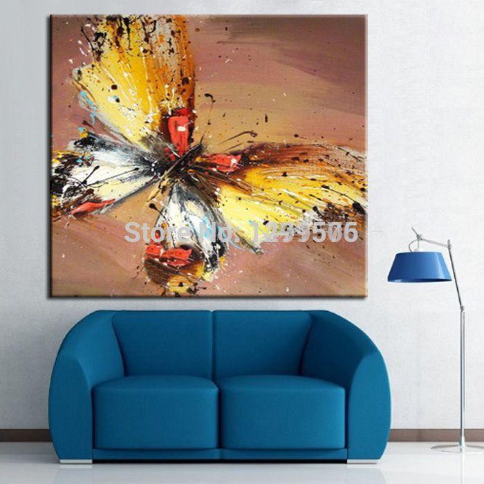 100 handgemalte abstrakte kunst lgem lde schmetterling sch ne tier gem lde auf leinwand. Black Bedroom Furniture Sets. Home Design Ideas