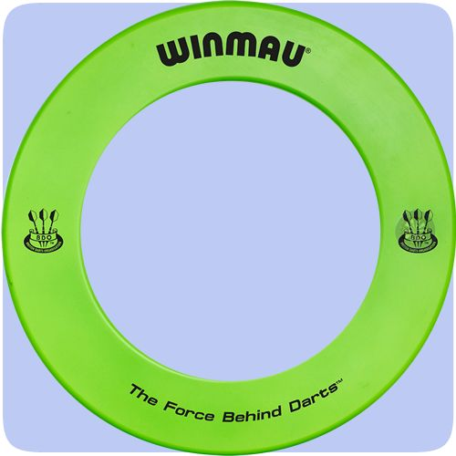 Winmau Heavy Duty Dartboard Surround - Professional - Green with Winmau Logo - http://www.dartscorner.co.uk/product_info.php?products_id=19495