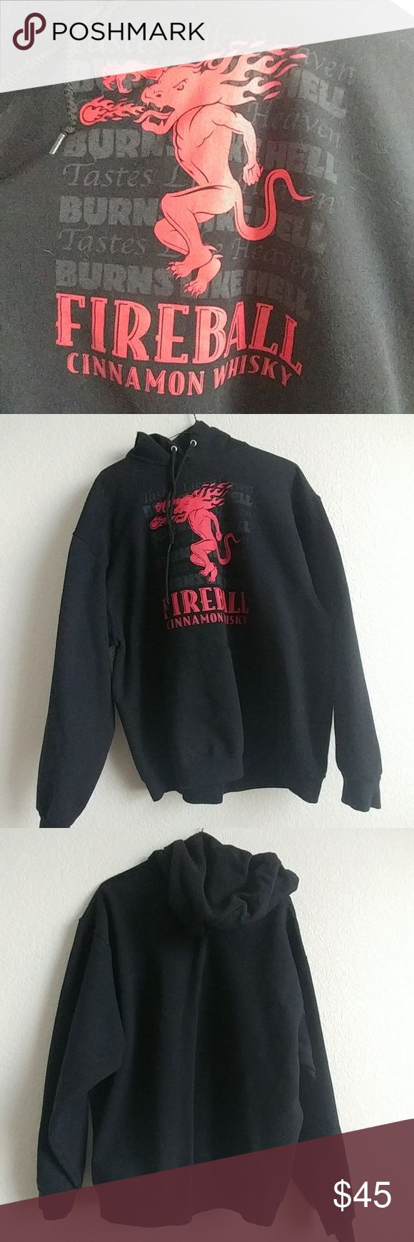 Men's Fireball whiskey hoodie Like new Other