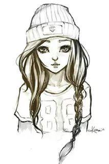 картинки для срисовки карандашом девочки