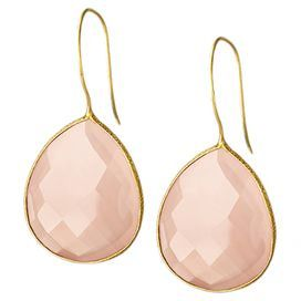 Paige Earrings in Rose Quartz: