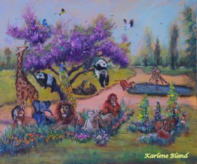 """Acrylic on 24""""x30"""" Canvas"""