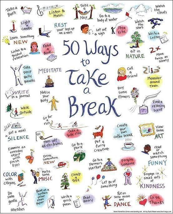 Take a break from your day, it's good for your mental health. Click through for more mental health tips. #mentalhealth #break #stress