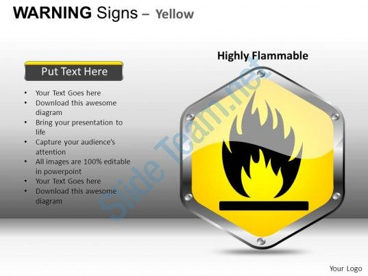 Warning Sign Yellow Powerpoint Presentation Slides Db Slide01