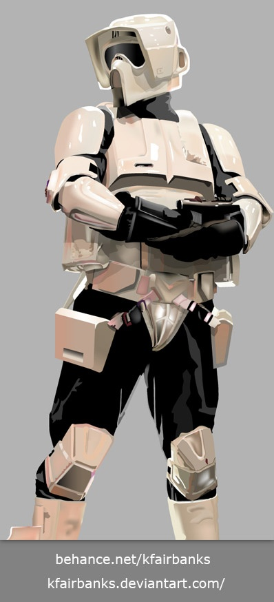 Digital drawing of a Biker Scout. Media: Illustrator. View additional art by K. Fairbanks