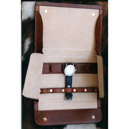 porta orologi da viaggio in cuoio www.bambule.it #portaorologi #artigianale #cuoio #madeinitaly