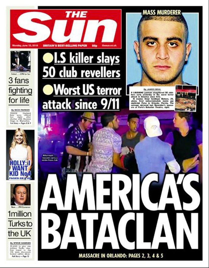 Au lendemain de la pire attaque terroriste de l'histoire des États-Unis depuis le 11-Septembre, les journaux du monde entier rendent hommage lundi 13 juin 2016 aux 103 victimes de la tuerie d'Orlando.
